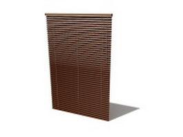 Wood window blind 3d model