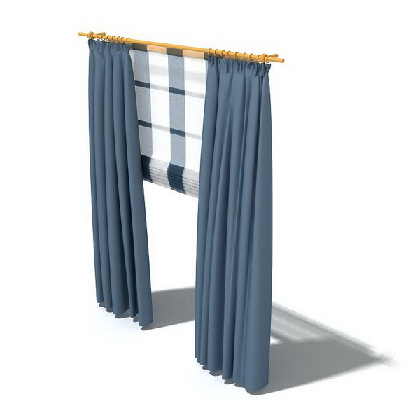Curtains And Roman Shade 3d Model 3dsmax 3ds Files Free