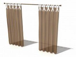 Hookless shower curtain 3d model