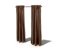 Polyester thermal curtains 3d model