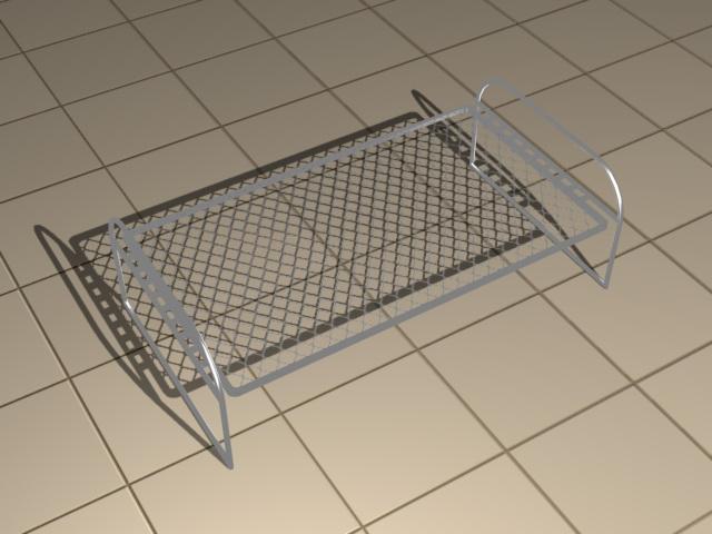 Single Size Steel Cot 3d Model 3dsmax Files Free Download
