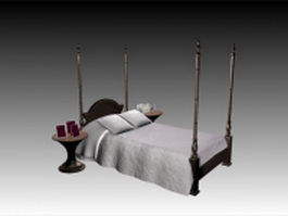 Four-poster bed 3d model