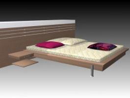 Modern minimalism bed 3d model