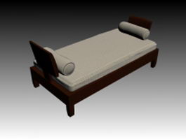 Classical daybed 3d model