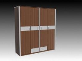 Modern fitted wardrobe 3d model