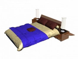 Luxury big bed 3d model