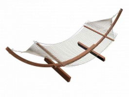 Wood hammock stand 3d model