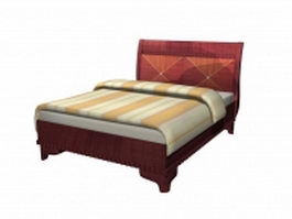 Classic style carved bed 3d model