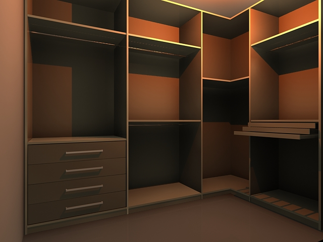 Wardrobe Wall Unit 3d Model 3dsmax Files Free Download