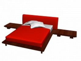 Modern design bed 3d model