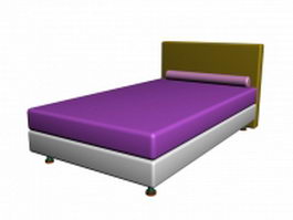 Hotel twin bed 3d model