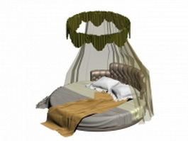 Curtained round bed 3d model
