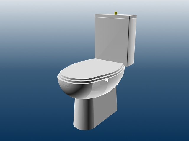 Bathroom Flush Toilet 3d Model 3dsmax Files Free Download Modeling 15623 On Cadnav