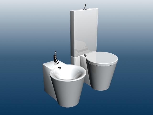 Modern Toilet And Bidet 3d Model 3dsmax Files Free