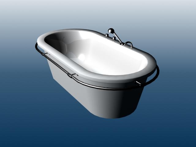 Free Standing Fiberglass Tub 3d Model 3dsmax Files Free