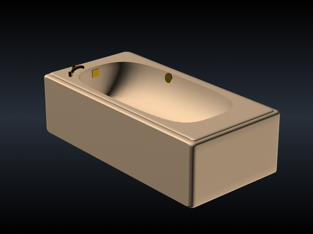 Taps Mounted Bathtub 3d Model 3dsmax Files Free Download Modeling 15671 On Cadnav