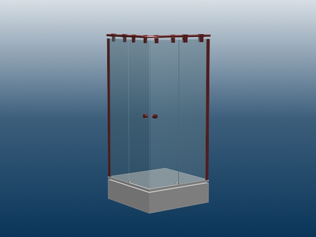 Corner Shower Stall 48d Model 48dsMax Files Free Download Modeling Amazing Bathroom Stall Model