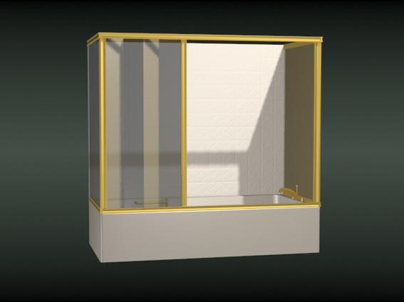 Shower Room With Bathtub 3d Model 3dsmax Files Free Download Modeling 15683 On Cadnav