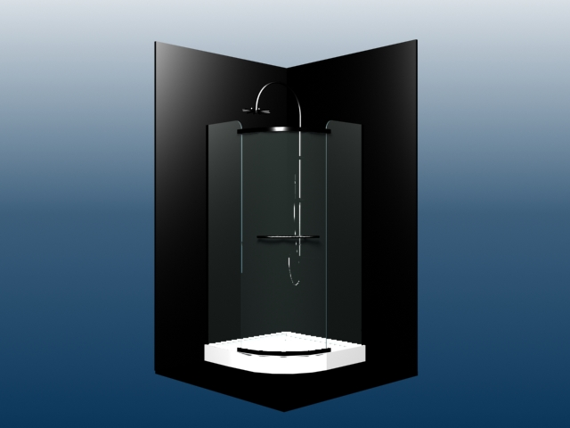 Enclosed shower 3d model 3dsmax files free download for Bathroom design simulator