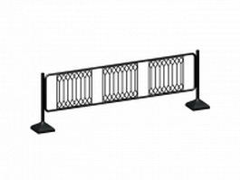 Metal traffic barrier 3d model