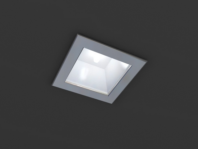 Square Led Recessed Downlight 3d Model 3dsmax Wavefront