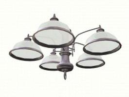 Bowl pendant lighting 3d model