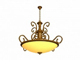 Antique bronze pendant lamp 3d model