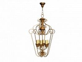Antique chandelier lamp 3d model