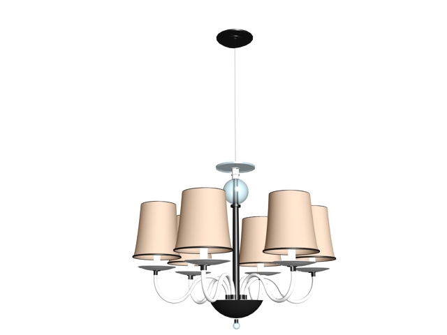 Modern chandelier 3d model 3dsMax files free download - modeling ...