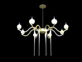 Glaze glass chandelier lighting 3d model