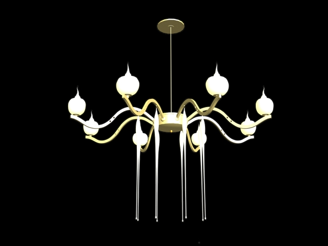 Glaze glass chandelier lighting 3d model 3dsMax files free download ...