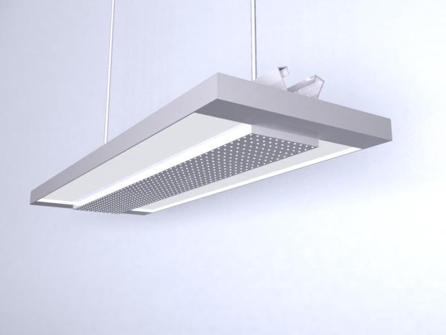 Hanging fluorescent grid lamp 3d model 3dsMax files free download ...