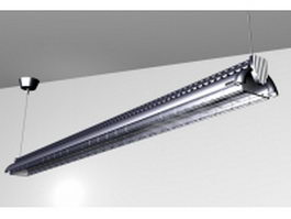 Aluminium ceiling fluorescent lamp 3d model