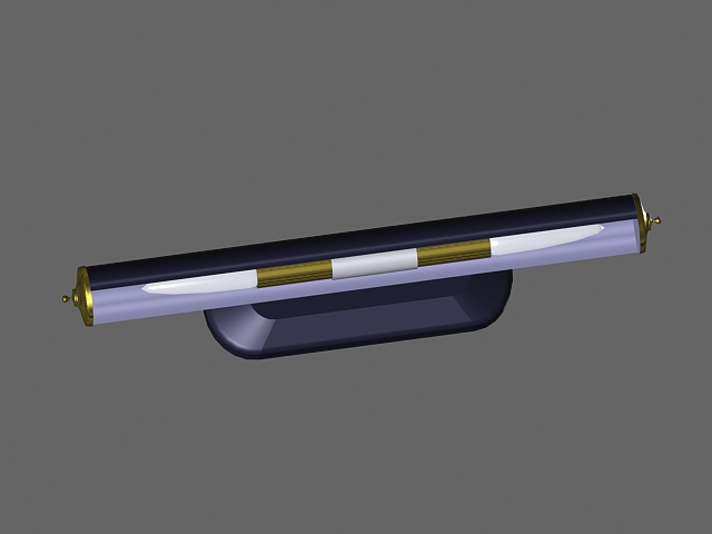 Wall mount fluorescent lamp 3d rendering