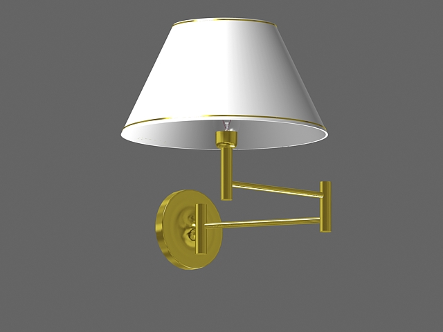 Swing arm wall lamp 3d model 3dsMax files free download - modeling 15915 on CadNav