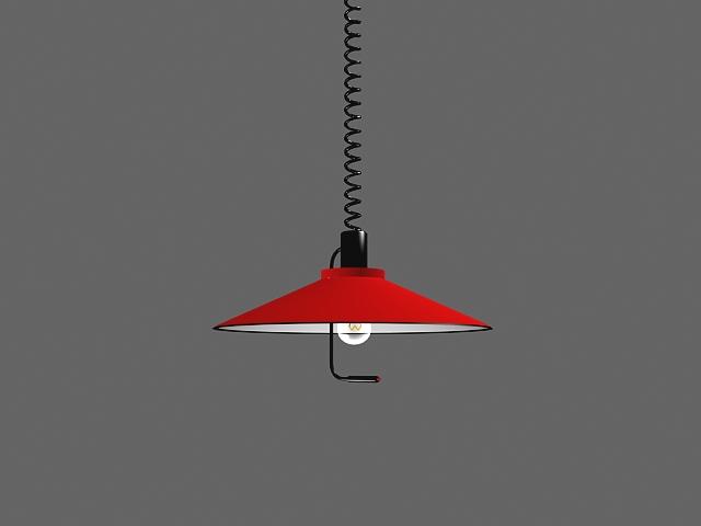 Pull Down Light Fixture 3d Model 3dsMax Files Free