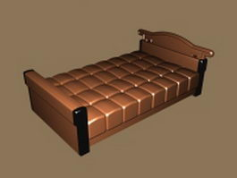 Twin size mattress bed 3d model
