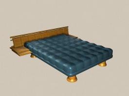 Contemporary design wood platform bed 3d model