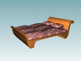 French style sleigh bed 3d model