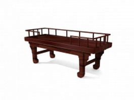 Ancient China daybed 3d model