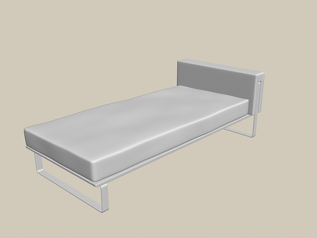 This Simple Twin Bed 3D Model Available In 3dsMax, Consist Of Metal Bed  Frame With Headboard And Mattress. Use This Highly Detailed Model For  Bedroom ...