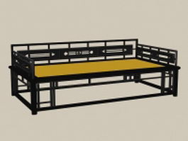 19th century Chinese daybed 3d model