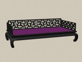 Chinese antique daybed 3d model