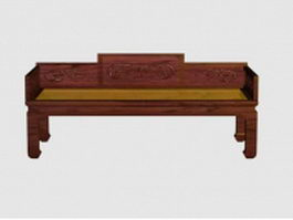 Vintage Chinese daybed 3d model