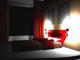 Small bedroom design 3d model