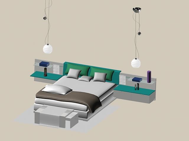 Modern bed sets 3d model 3dsmax files free download modeling 15976