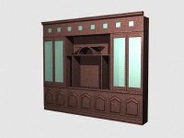 Wardrobe armoire closet 3d model