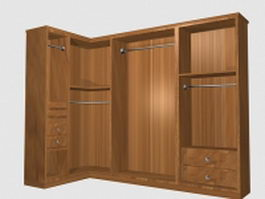 Bedroom corner closet 3d model