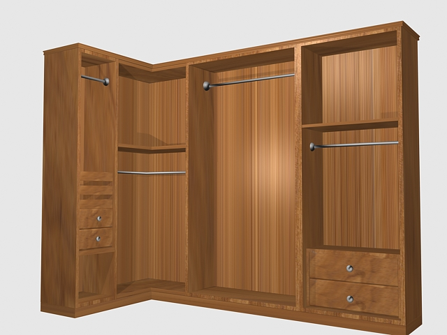 Bedroom Corner Closet 3d Model 3dsmax Files Free Download