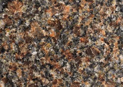High Res Textures Of Closeup Photo Santa Fe Brown Granite Slab Surface Hoary Background With And Dark Spots Particles Pattern Natural Stone